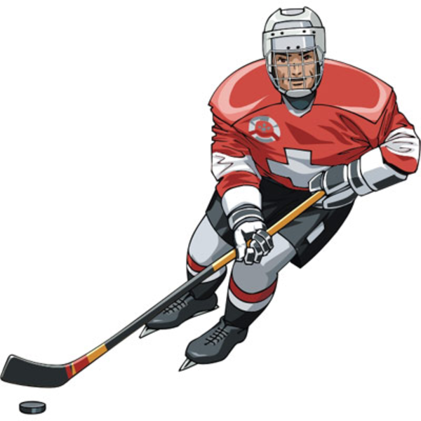Hockey Player Free Images At Clker Com Vector Clip Art Online Royalty Free Public Domain Hokkeisty Hokkej Makkuin