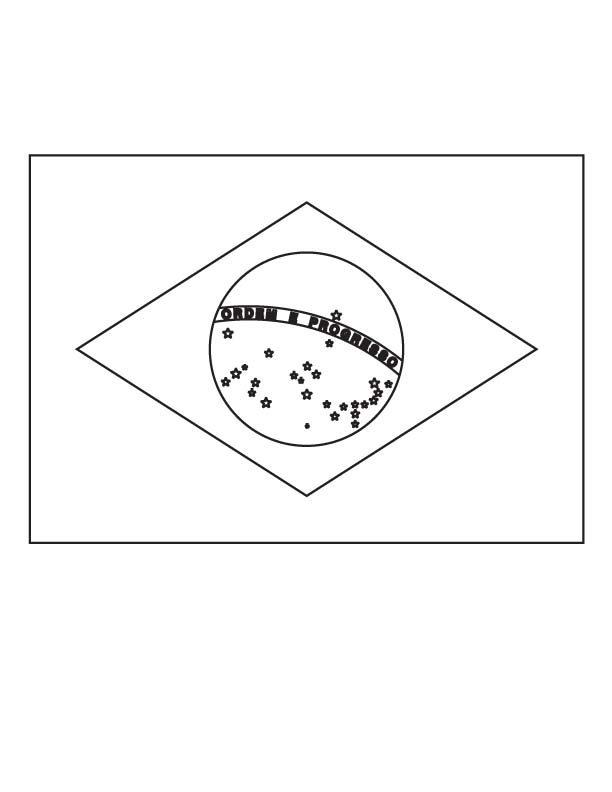 Flag Of Brazil Coloring Page Coloring Pages Brazil Flag Flag Printable
