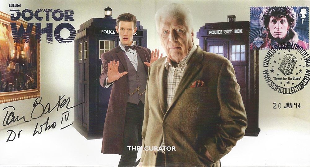RARE Doctor Who 40th Anniversary Collectable Stamp Cover Signed TOM BAKER