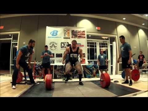 f246e72688fb Dan Green Raw Deadlift 782lbs   220lbs With Wraps World Record Total ...