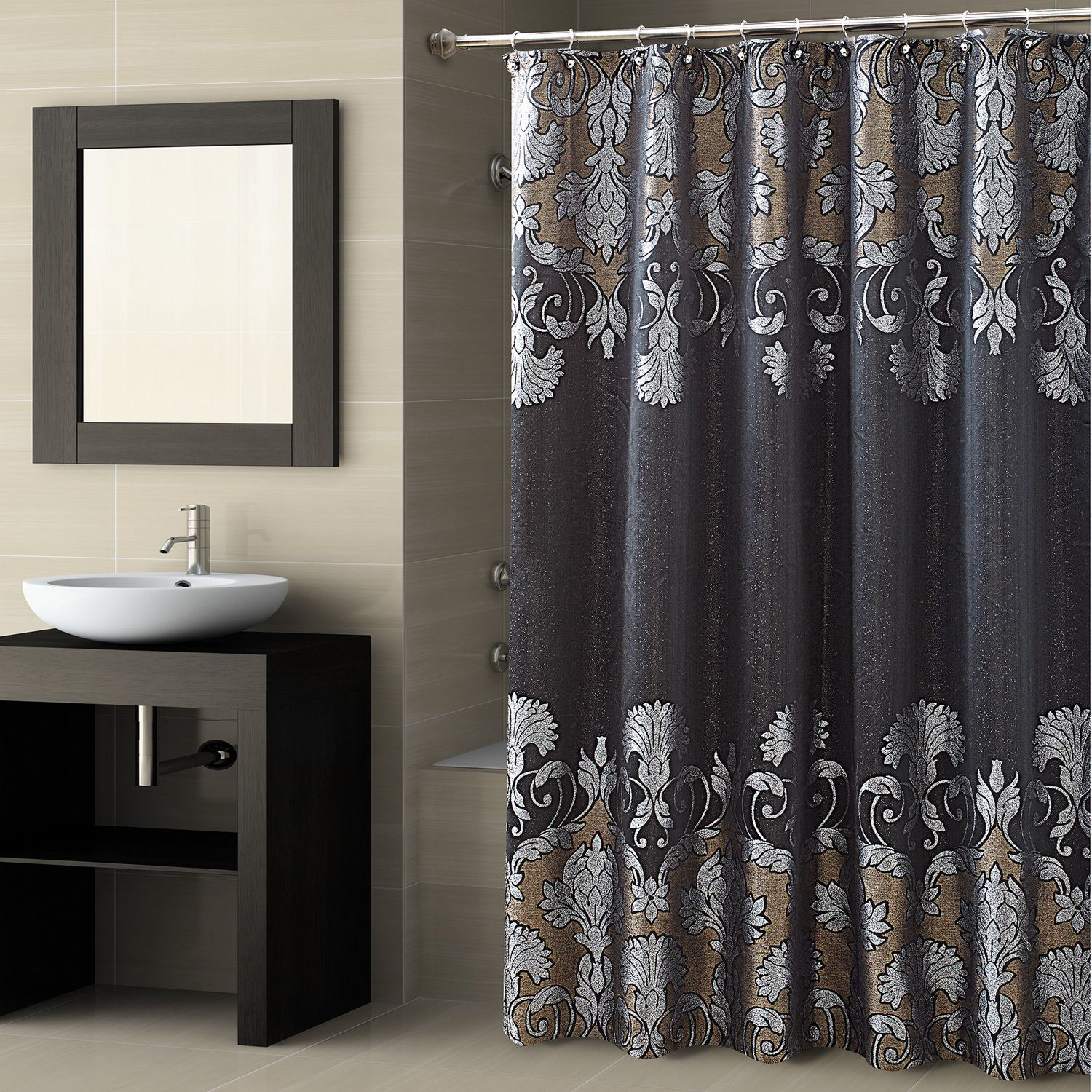 Designer Shower Curtains Nz Shower Curtain Decor Black Shower