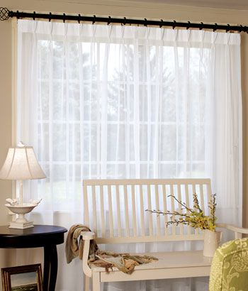 Country Curtains Pinch Pleat Sheer Slider Panel Sliding