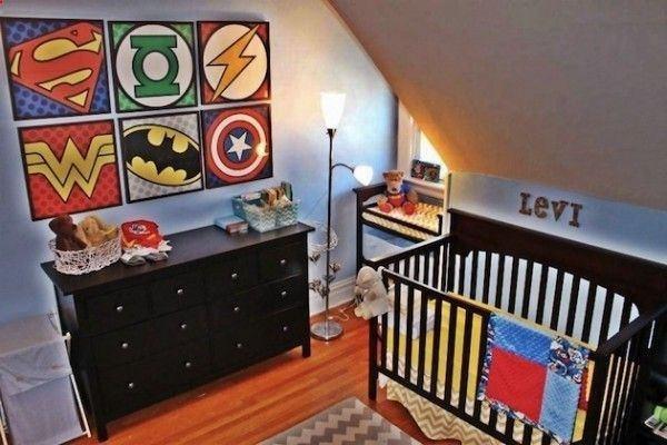If I ever have a baby boy, this will be his room! Superhero Bedroom