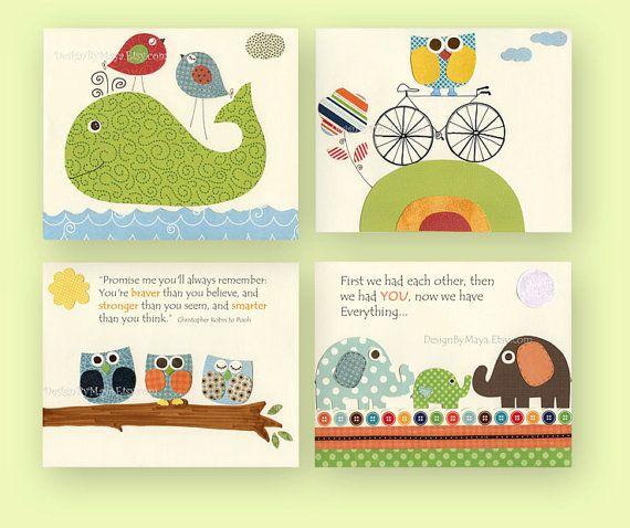 Adorable Idea! Baby boy nursery decor Nursery wall art print baby by ...