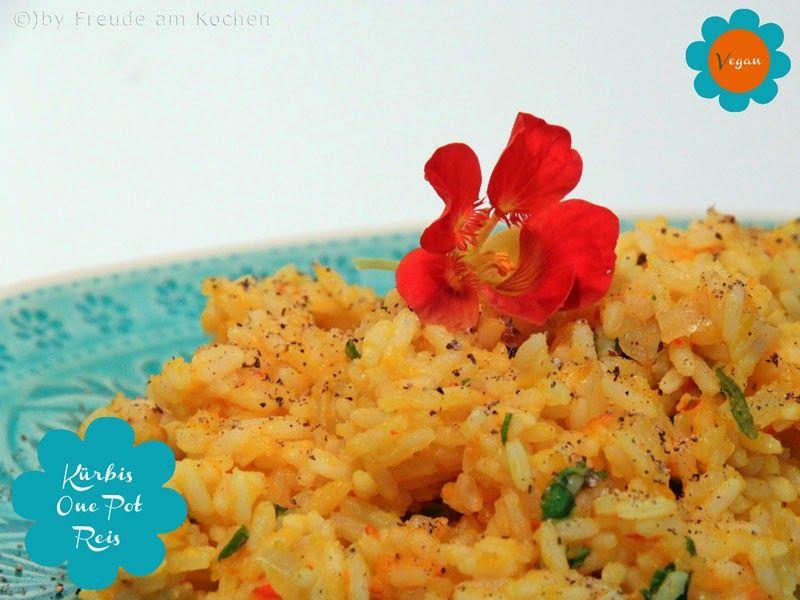 One Pot Kürbis Reis vegan - Freude am Kochen