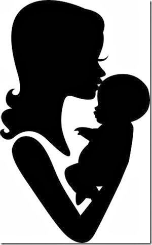 Dibujo Día Madre Lconaty Baby Silhouette Silhouette Mom Baby