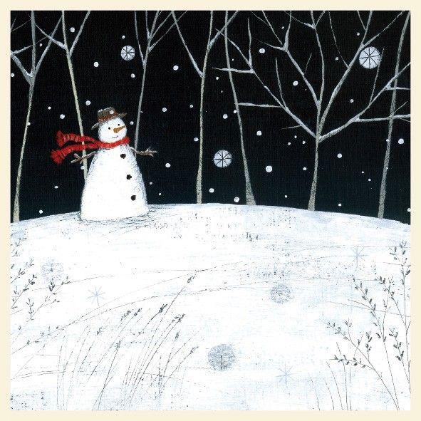 Snowman Card by Lucy Grossmith
