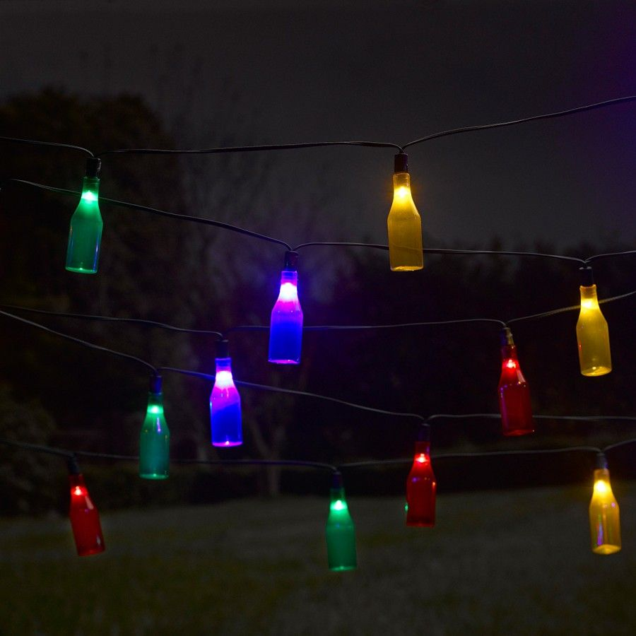 Outdoor String Lights John Lewis: Smart Garden Solar Bottle String Lights, 16 Multi Colour