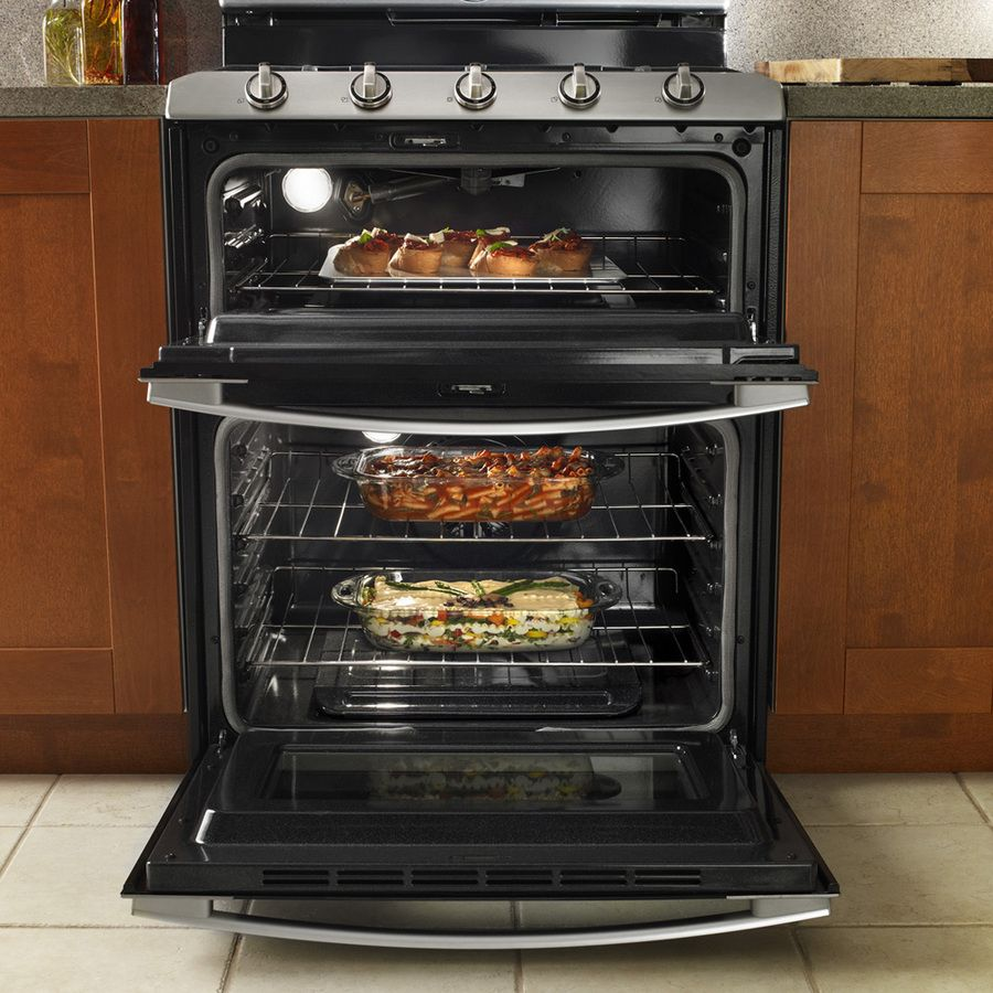 Shop Whirlpool Gold 30 In Smooth Surface Double Oven Electric