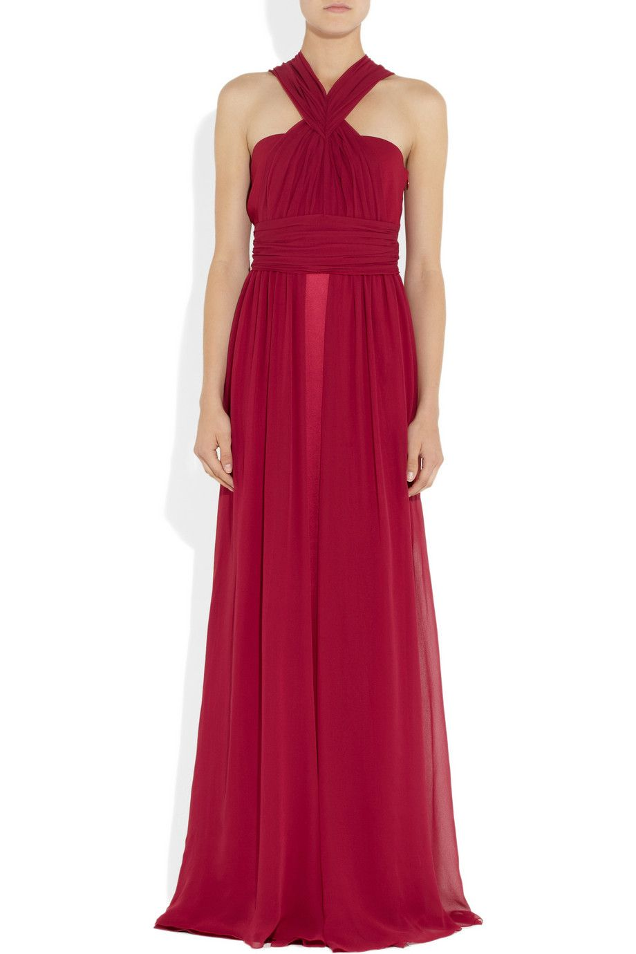 Vionnet silkchiffon and satin gown netaporter on the body