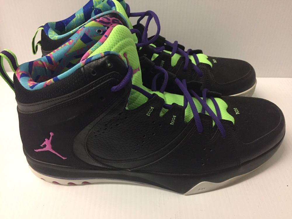 separation shoes 1abb2 03289 USED AIR JORDAN PHASE 23 2 BLACK GREEN CLUB PINK PURPLE NO RESERVE WITH BOX   fashion  clothing  shoes  accessories  mensshoes  athleticshoes (ebay link)