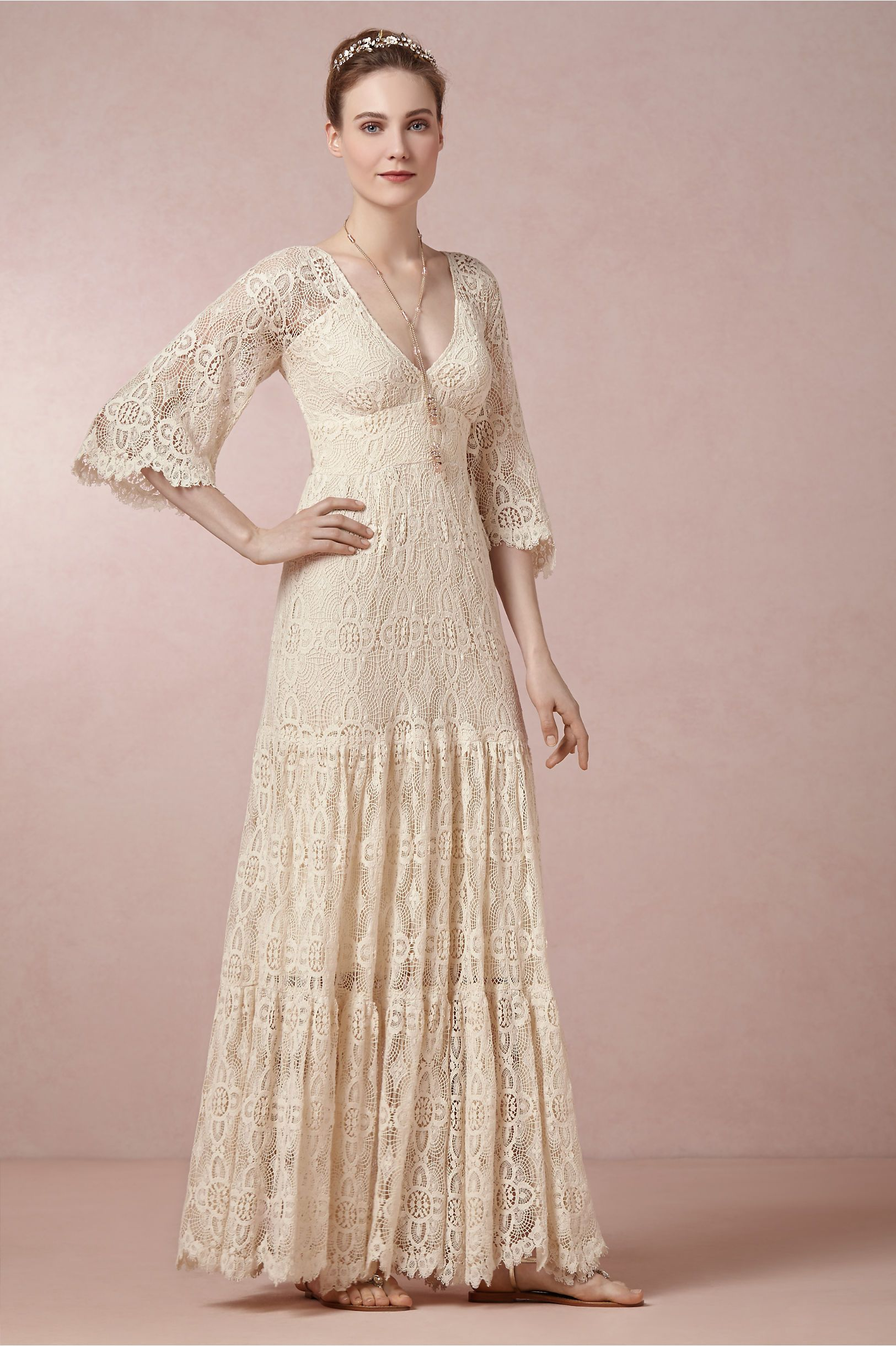 Dress for wedding evening party  Rena Dress from BHLDN  Style  Pinterest  Bride reception dresses