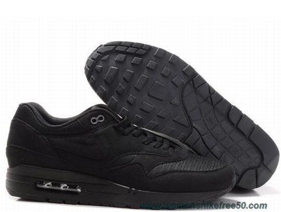 Nike Air Max 1 Black Black Mens 308866-016 Online