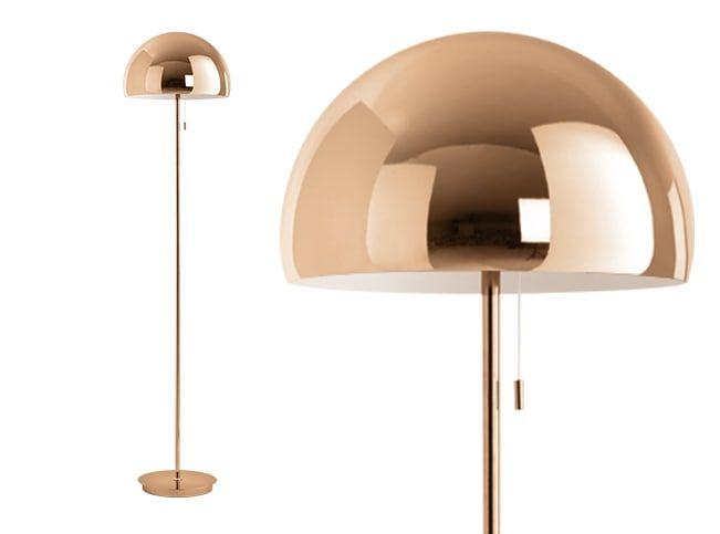 Collet staande lamp koper koper