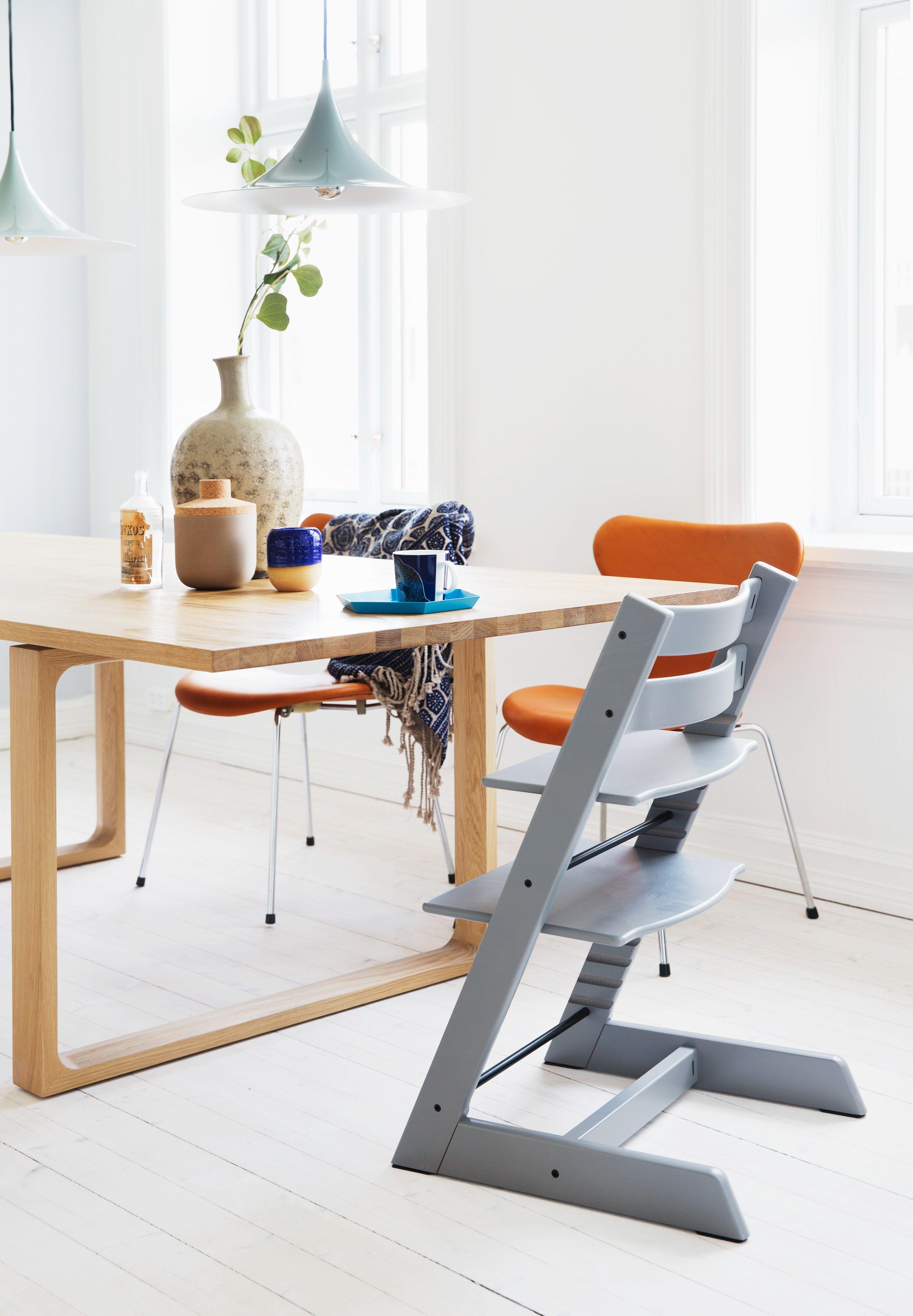 tripp trapp high chair hammock stand indoor stokke in storm grey nursery kids room
