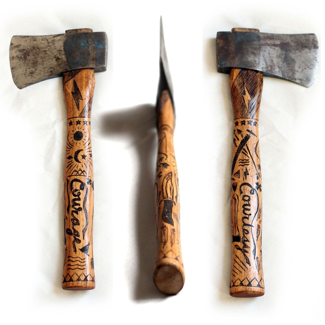 #axe #handaxe engraved handle sanborncanoecompany: A new ...
