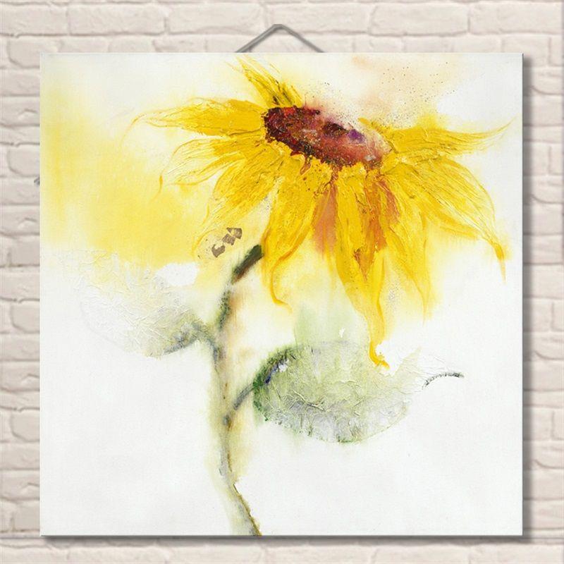 Aliexpress.com: Comprar Hermosa Flor Abstracta Hecha A Mano Pinturas ...