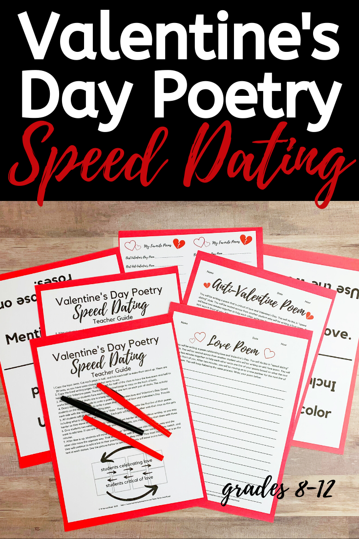 Valentines Day Speed Dating Poetry | Speed dating, High