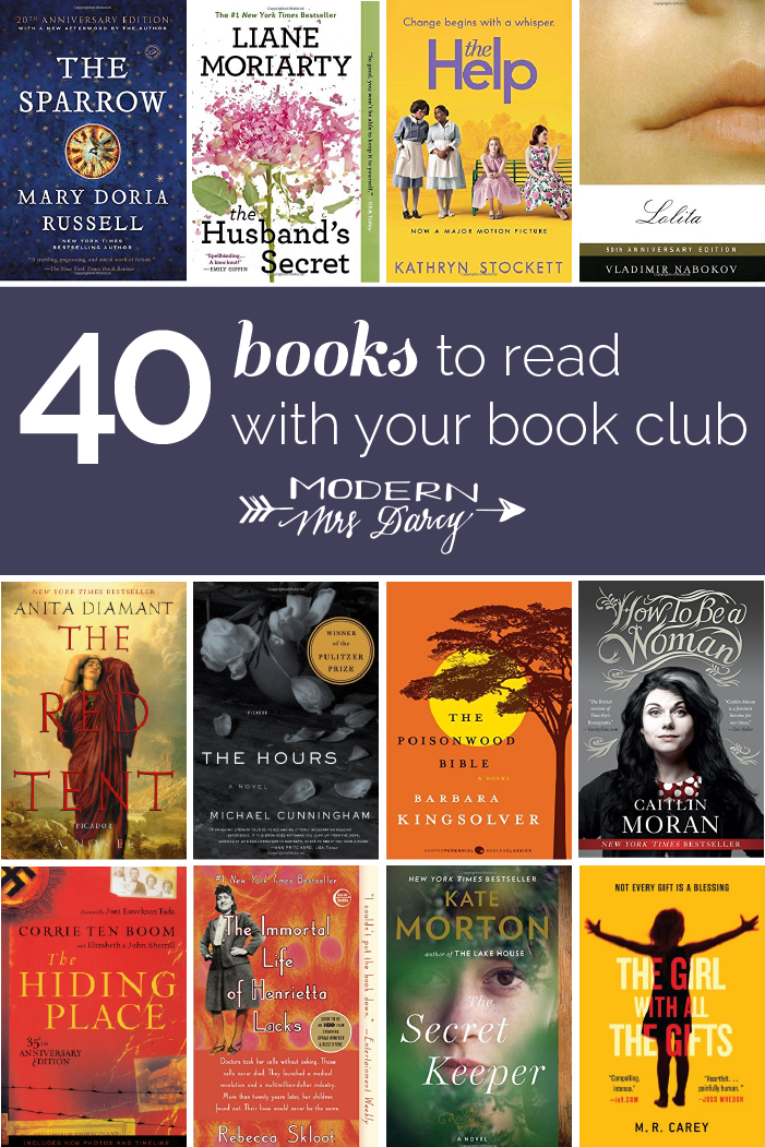 40 Great Book Club Novels Modern Mrs Darcy In 2020 Book Club Book Club Books Book Club Reads