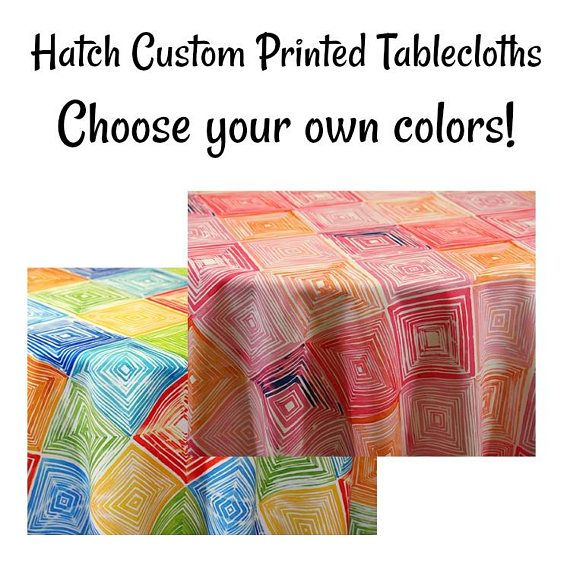 hatch custom printed abstract design tablecloth printed abstract