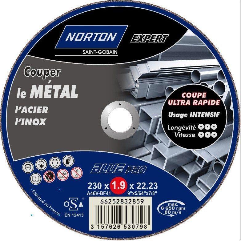 Disque A Tronconner Fin Pour Metal Norton Diam 230 Mm Diamant Disque Et Metal