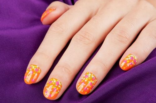 Cherry blossom nail art | Cherry blossom nail design | Cherry blossoms spring nail art | Cherry blossom nail spa | Cherry blossom floral design.....  | See more nail designs at http://www.nailsss.com/nail-styles-2014/
