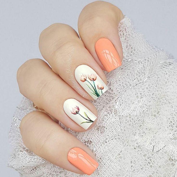 Nice Matte Light Orange Nails Women Fashion Peach Nails Classy Acrylic Nails Orange Nails