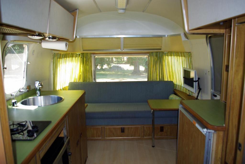 Stunning restored 1954 airstream flying cloud travel - Airstream replacement interior panels ...