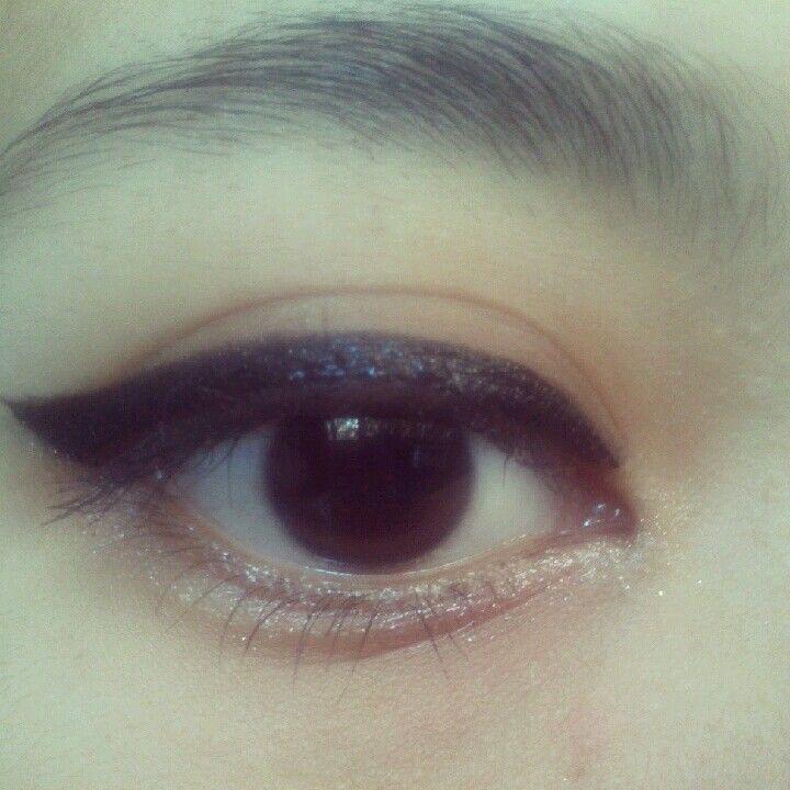 Simple korean look.i use it for nude makeup style. #etude look at my eyes  jewel pink, mascara #nyx ,eyeliner #mac