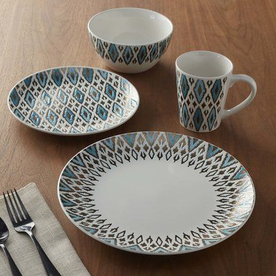 Revamp Your Dinnerware With The 40Piece Dinnerware Set Patterned Unique Patterned Dinnerware Sets