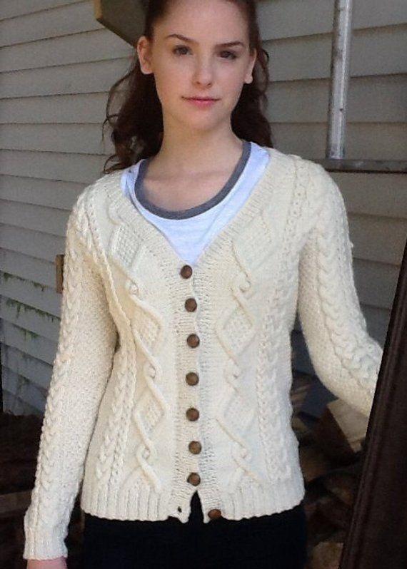 Ladies Handknit Irish Cardigan   Knit cardigan, Toddler ...
