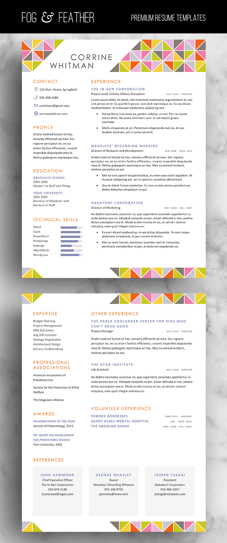 Cover Letters That Stand Out Classy Resume Template Cv Template Cover Letter References Word Us .