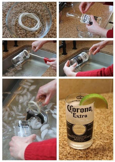 could be fun to do with old Coca Cola bottles...