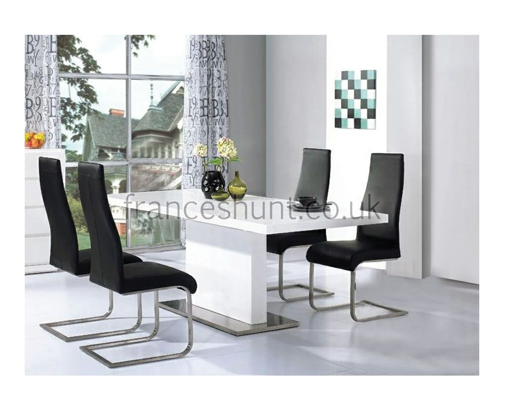 Marconi White High Gloss Dining Table Modern Dining Room Tables