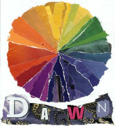 color wheel lesson- collage