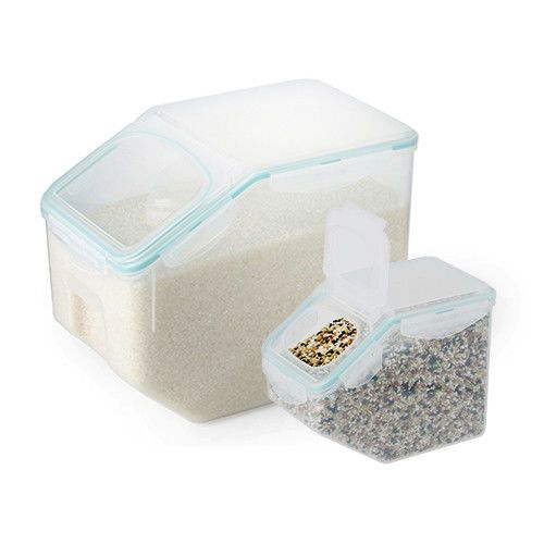 Lock Lock Bpa Free Rice Cereal Grain Storage Container 10kg 2 5kg Mint Set 8803733104340 Ebay Grain Storage Storage Containers Container