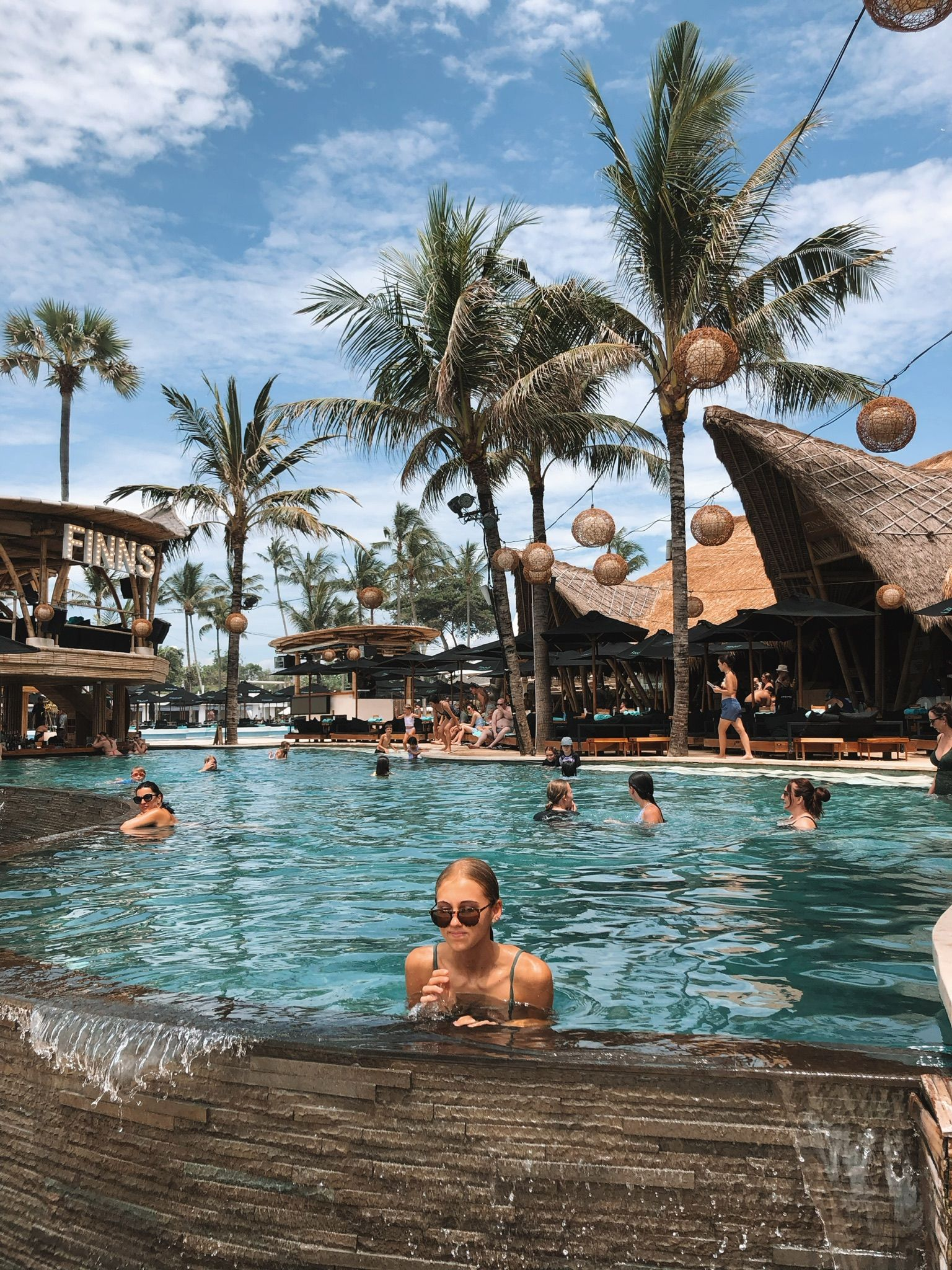 Summer Holiday Bali Finns Beach Club Pool Swimming Vsco Aesthetic Vibes Tanned In 2020 Travel Aesthetic Bali Beaches Bali Travel