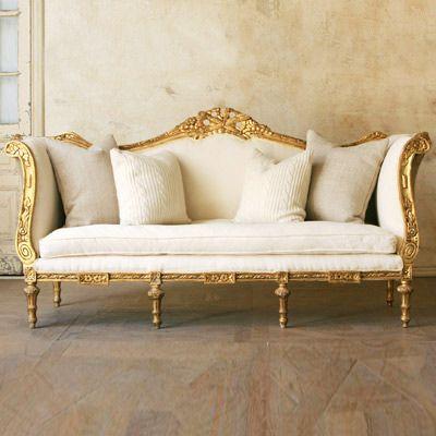 Gold Sofa On Pinterest