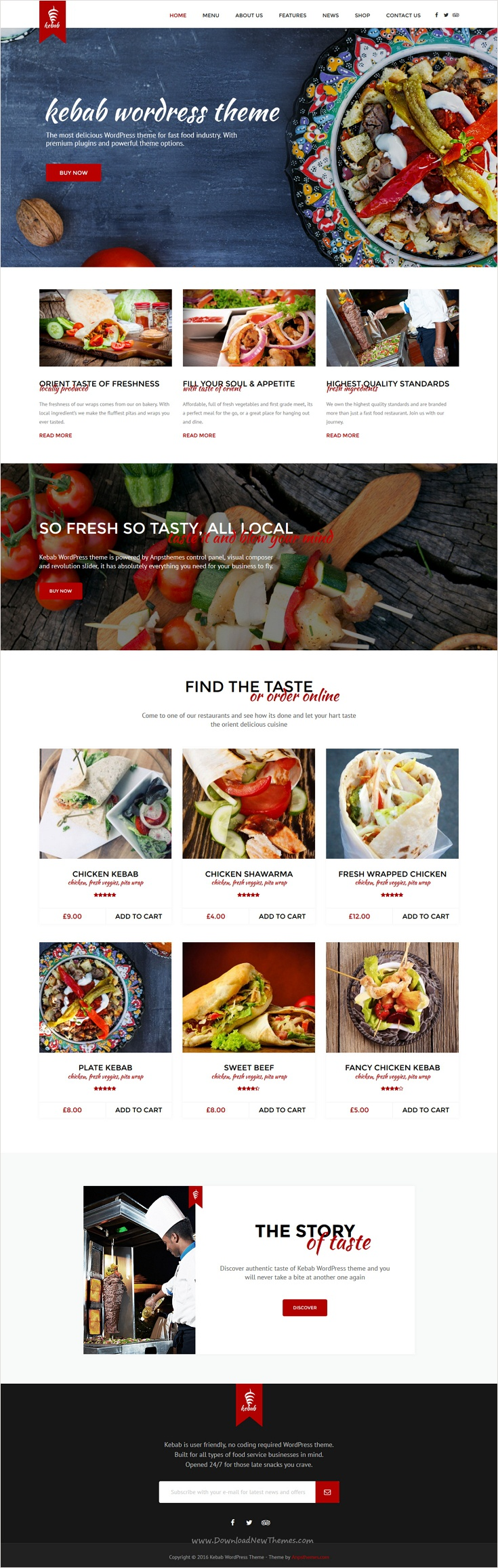 Kebab is a beautifully design 3 in 1 responsive #WordPress theme for restaurant, #cafe or fast food company #website download now➩ https://themeforest.net/item/kebab-fast-food-wordpress-theme/18124379?ref=Datasata