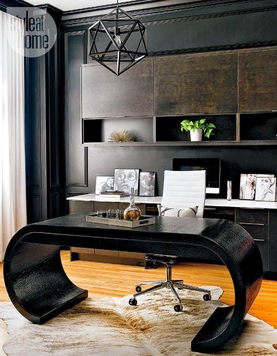 Black desk... | @covercouch