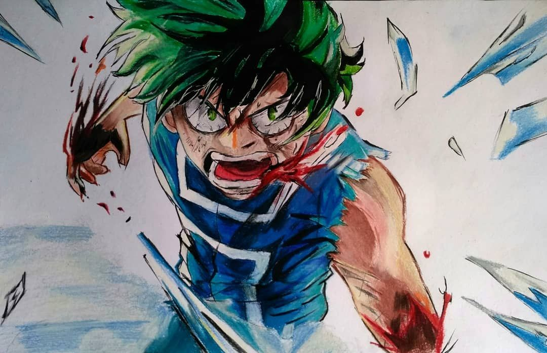 It S Finally Complete Midoriya Izuku Form My Hero Academia Only 3 Steps Tomorrow Post Full Colouring Video On My Chan My Hero Academia My Hero Hero