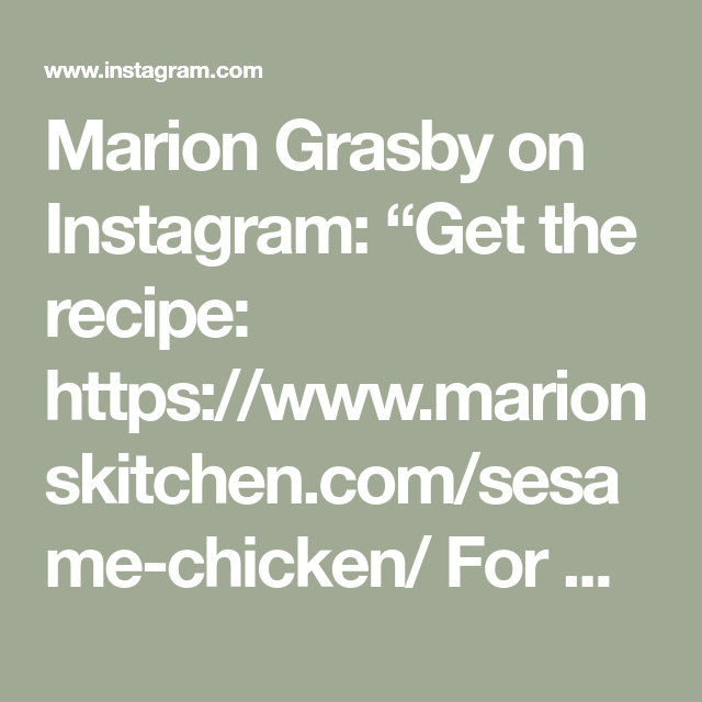 Marion Grasby On Instagram Get The Recipe Https Www Marionskitchen Com Sesame Chicken For More Recip Sesame Chicken Japanese Fried Chicken Fried Chicken