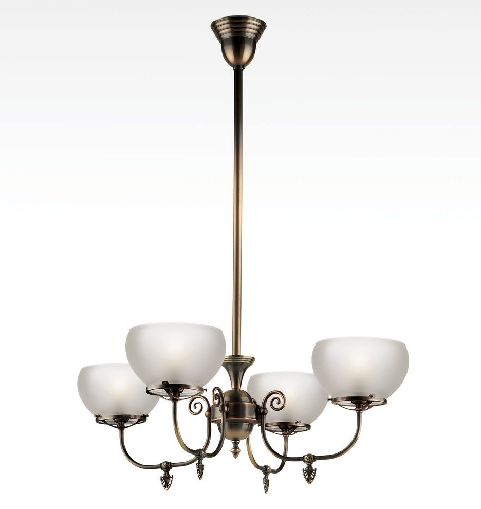 Hoyt Late Victorian Gas Style Chandelier A0881