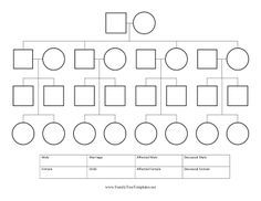 This free, printable pedigree chart is great for