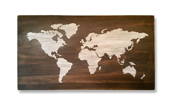 Distressed world map wood sign by hillsidedesignshop on etsy my distressed world map wood sign by hillsidedesignshop on etsy gumiabroncs Image collections
