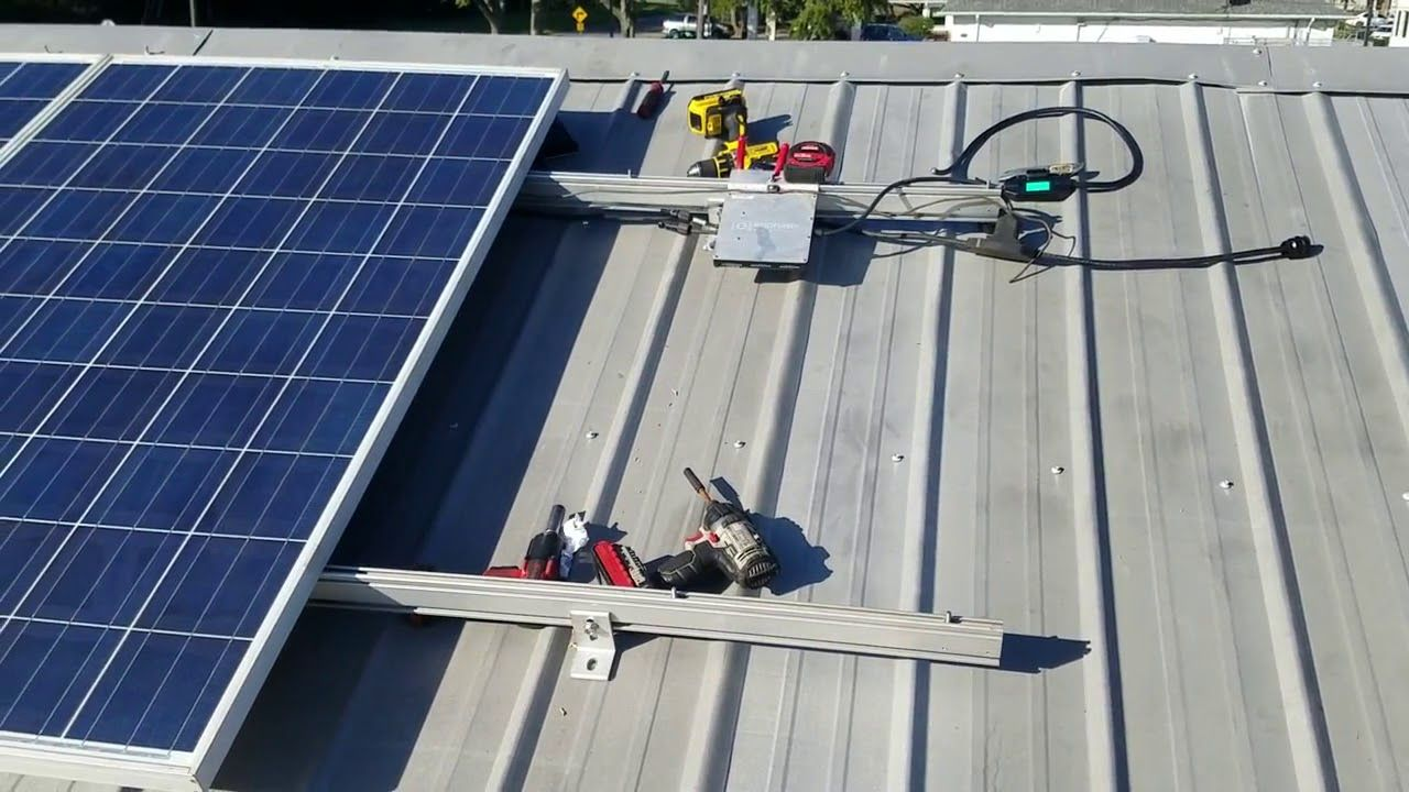 Solar Grid Tie Started And 3 Panels Hooked Up And Working Solar Roof Solar Panel