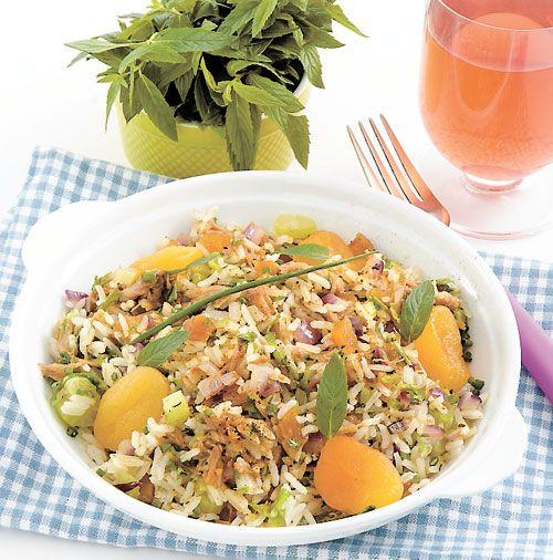 PILAF D'AGNEAU AUX ABRICOTS Un plat économique pour une grande tablée. Les abricots secs apportent beaucoup de goût.
