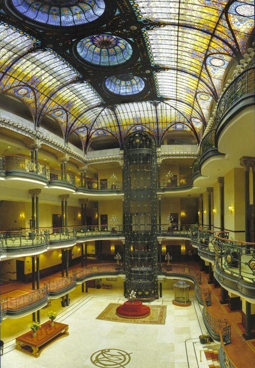 Gran Hotel In Mexico City 1910 Tiffany Glass Stained Ceiling Mexico City Vacation Mexico Hotels Architecture