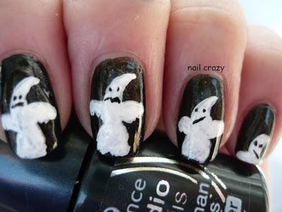 DIY halloween nails: DIY Halloween nail art : Halloween Nail Art Challenge - Ghost