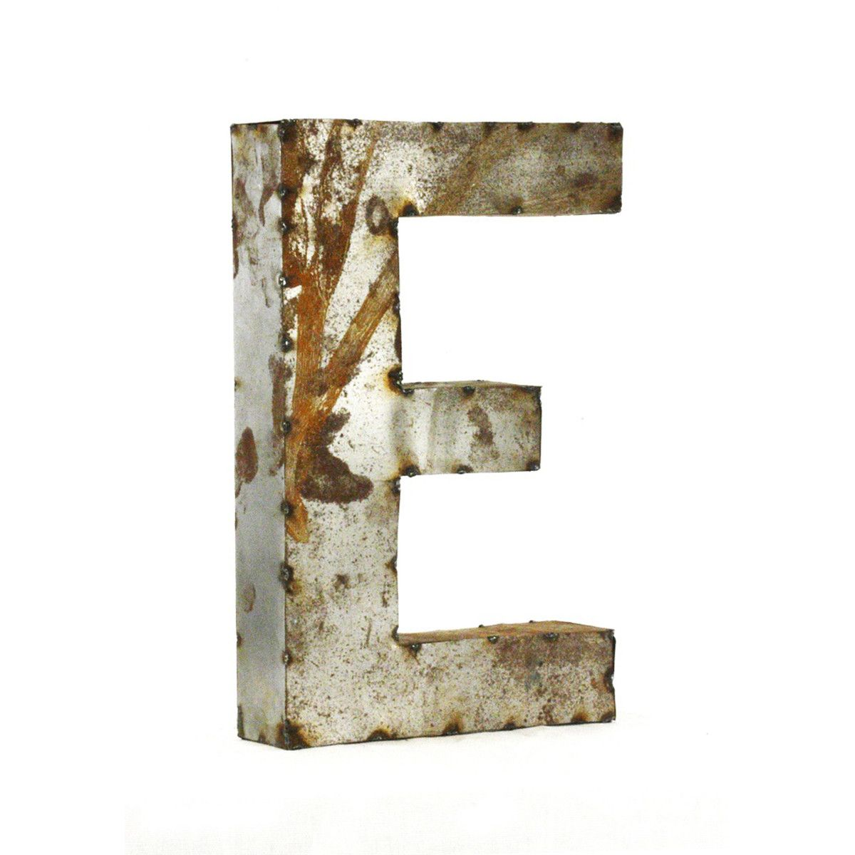 Small Rustic Metal Letters Metal Letter E  You Could Make A Great Monogram Display With